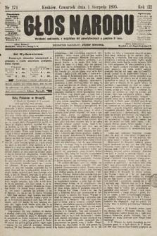 Głos Narodu. 1895, nr174