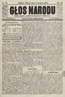 Głos Narodu. 1895, nr178