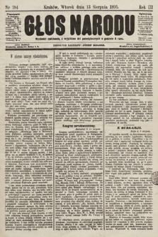 Głos Narodu. 1895, nr184