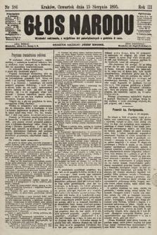 Głos Narodu. 1895, nr186