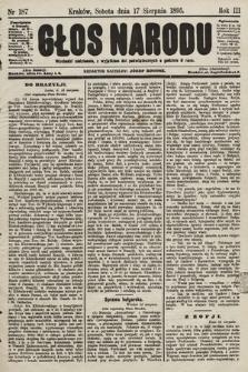 Głos Narodu. 1895, nr187