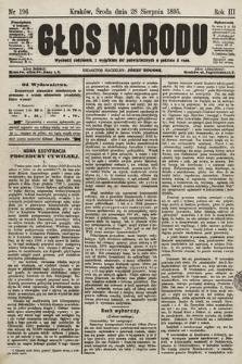 Głos Narodu. 1895, nr196