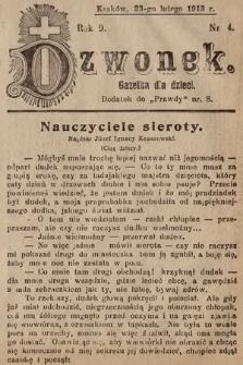 Dzwonek : gazetka dla dzieci. 1913, nr4