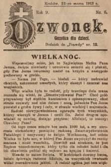 Dzwonek : gazetka dla dzieci. 1913, nr6