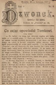Dzwonek : gazetka dla dzieci. 1913, nr8