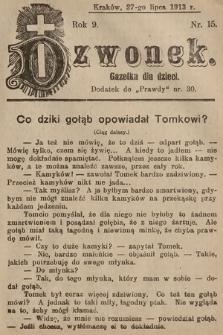 Dzwonek : gazetka dla dzieci. 1913, nr15