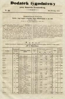 Dodatek Tygodniowy przy Gazecie Lwowskiej. 1858, nr22