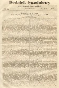 Dodatek Tygodniowy przy Gazecie Lwowskiej. 1858, nr24