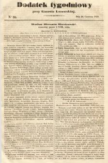 Dodatek Tygodniowy przy Gazecie Lwowskiej. 1858, nr26