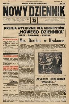 Nowy Dziennik. 1934, nr115