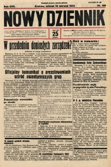 Nowy Dziennik. 1934, nr168