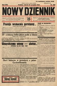 Nowy Dziennik. 1934, nr263