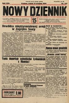 Nowy Dziennik. 1934, nr342