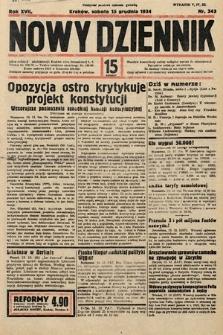 Nowy Dziennik. 1934, nr343