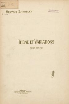 Thème et variations : pour piano