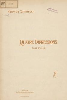 Quatre impressions : pour piano