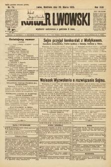 Kurjer Lwowski. 1925, nr74