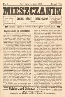 Mieszczanin : organ miast i miasteczek. 1906, nr6