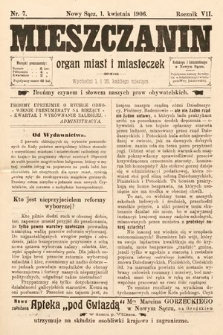 Mieszczanin : organ miast i miasteczek. 1906, nr7