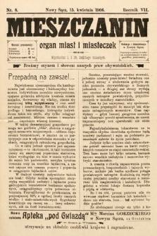 Mieszczanin : organ miast i miasteczek. 1906, nr8