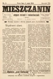 Mieszczanin : organ miast i miasteczek. 1906, nr9