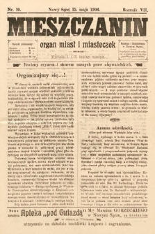 Mieszczanin : organ miast i miasteczek. 1906, nr10