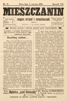Mieszczanin : organ miast i miasteczek. 1906, nr11