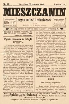 Mieszczanin : organ miast i miasteczek. 1906, nr12