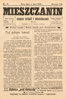 Mieszczanin : organ miast i miasteczek. 1906, nr13