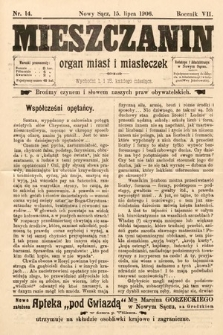 Mieszczanin : organ miast i miasteczek. 1906, nr14