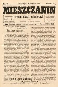 Mieszczanin : organ miast i miasteczek. 1906, nr16