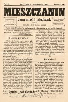 Mieszczanin : organ miast i miasteczek. 1906, nr19