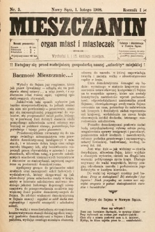 Mieszczanin : organ miast i miasteczek. 1908, nr3