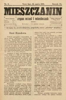 Mieszczanin : organ miast i miasteczek. 1908, nr6