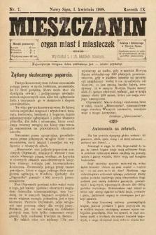 Mieszczanin : organ miast i miasteczek. 1908, nr7