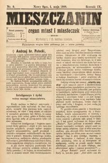 Mieszczanin : organ miast i miasteczek. 1908, nr9
