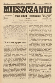 Mieszczanin : organ miast i miasteczek. 1908, nr11