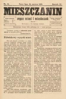 Mieszczanin : organ miast i miasteczek. 1908, nr12