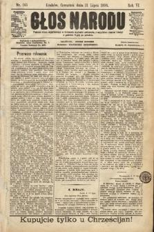 Głos Narodu. 1898, nr165