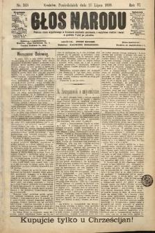 Głos Narodu. 1898, nr168
