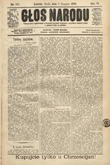 Głos Narodu. 1898, nr176