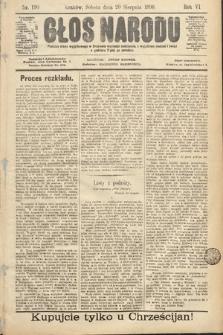 Głos Narodu. 1898, nr190
