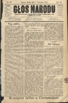 Głos Narodu. 1898, nr205