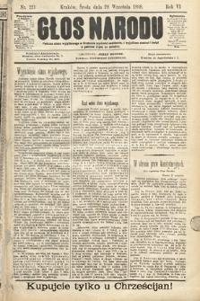 Głos Narodu. 1898, nr221