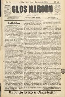 Głos Narodu. 1898, nr224