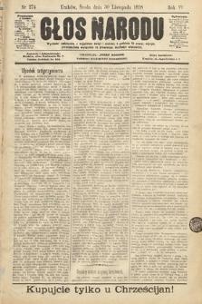 Głos Narodu. 1898, nr274