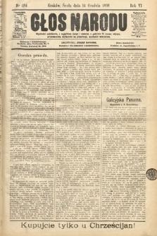 Głos Narodu. 1898, nr284