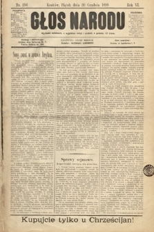 Głos Narodu. 1898, nr296