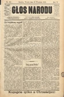 Głos Narodu. 1898, nr220