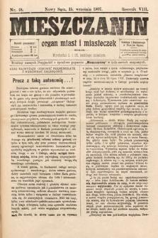Mieszczanin : organ miast i miasteczek. 1907, nr18